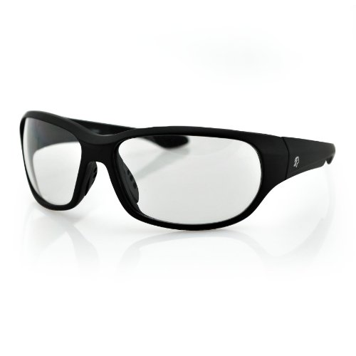 ZANheadgear New Jersey Sunglass with Matte Black Frame and Clear Lenses