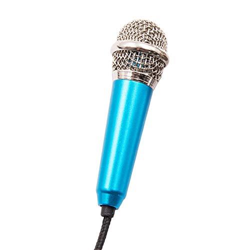 USB Microphone Portable 0.137 Inch Stereo Studio Mic KTV Karaoke Mini Microphone For Smart Phone Laptop PC Desktop Handheld Audio Microphone(Color:Blue)