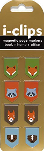 Woodland Friends i-clip Magnetic Page Markers (Set of 8 Magnetic Bookmarks)