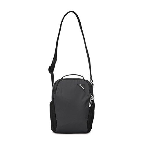 Pacsafe Vibe 200 Unisex-Erwachsene Anti-Theft Compact Travel Bag, Diebstahlschutz Umhängetasche, Schwarz / Black