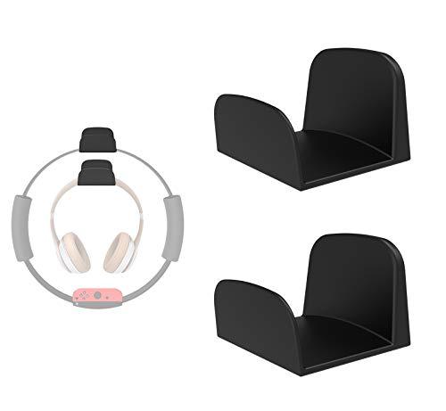 sciuU Soporte de Pared para Auriculares, [Conjunto de 2] Multiusos Gancho Adhesivo 3M, Colgar los Auriculares, Accesorios para Headphone/Fitness Ring-con/Pilates/Hula Hoop, Negro