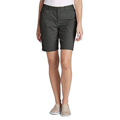 """Eddie Bauer Women's Stretch Legend Wash Shorts - Curvy Fit, 10"""", Carbon Regular"""