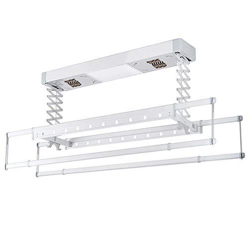Warm Worm Intelligent elektrisch wasrek, aan het plafond bevestigd wasrek met ledlicht, uv-sterilisatie-afstandsbediening, automatisch hefbaar wasrek