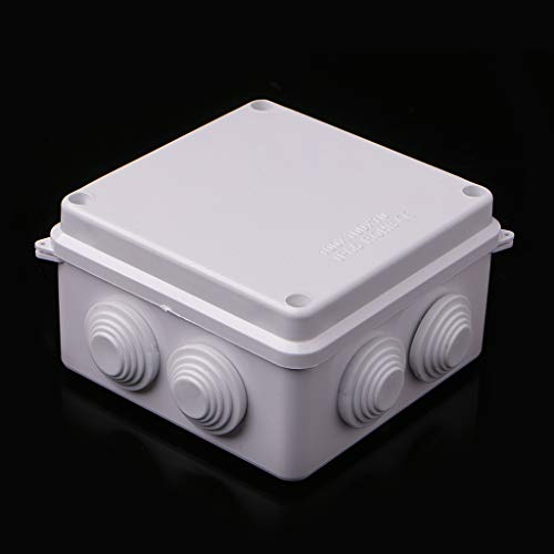 YoungerY (1 PC Caja de Conexiones de plástico Impermeable de 100 * 100 * 70 mm