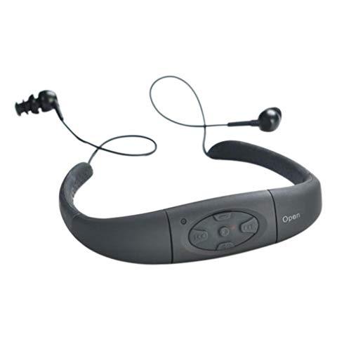 Auriculares MP3 Memoria Flash incorporada Banda para el Cuello Estéreo 550mAh FM Música MP3 MP3 Negro 8G