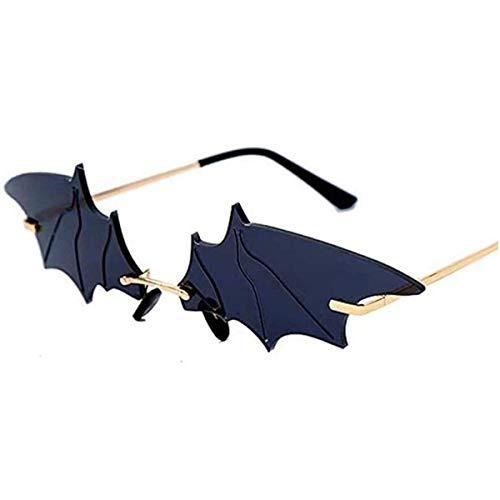 HLONGG Polarisierte Sonnenbrille,Mode Schwarz Grau Batman Gradient Spiegel Komfort Sonnenbrille Uv400 Zum Laufen Radfahren Angeln Fahren Golf Casual Sportbrillen,Schwarz