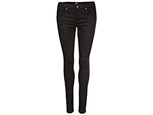 Esmara Damen Stretch Hose Knöchelhose Jeans Skinny Röhren Hose SCHWARZ (40, Schwarz)