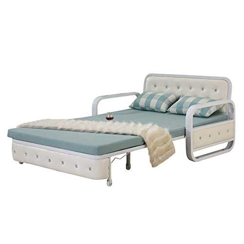 RSTJ-Sjcw Cabrio-Sofa-Couch-Schwelle mit Ausziehbett, Leinen Polster Modern Cabrio Folding Futon-Schlafsofa für kompakte Wohnfläche, Wohnung, Wohnheim, Bonusraum