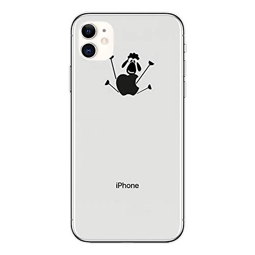 Klare Süße Muster Hülle kompatibel mit iPhone 11 Pro Transparente Weiche Silikonhülle Ultra-dünn TPU Cartoon Schutzhülle für iPhone 11 Pro Schaf