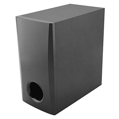 Subwoofer Soundbar, rectángulo redondeado de madera, grosor 155 x 300 x 282 mm, altavoz soundbar subwoofer fabricado en madera para ordenador TV Home Theater