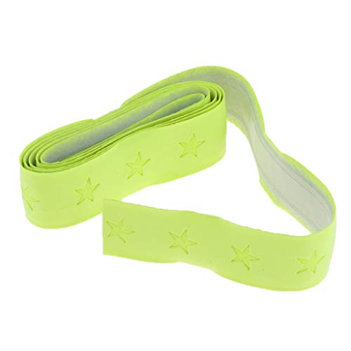 F Fityle Cinta de Raqueta de Tenis/Badminton Absorbente de Sudor de Cuero Artificial, Sobregrip Práctico y Decorativo para Protección de Mango de Raquetas - Amarillo