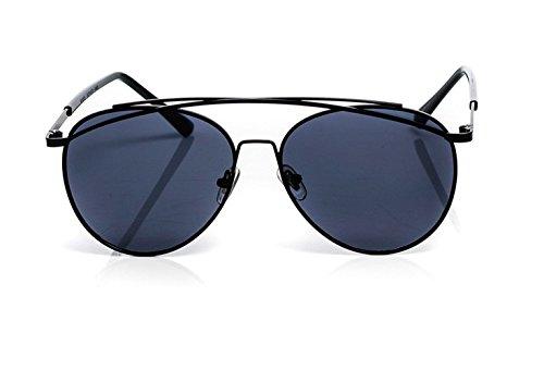 Gafas de sol con lentes de espejo aviador, marco de metal, unisex, UV400
