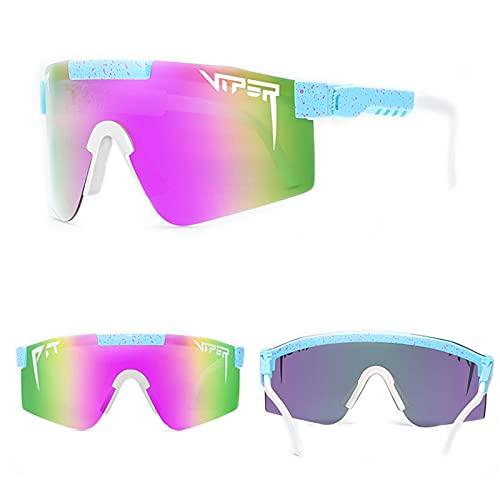 Pit-Viper Gafas de sol polarizadas UV400 para hombres y mujeres, ciclismo, correr, pesca, golf (C13)