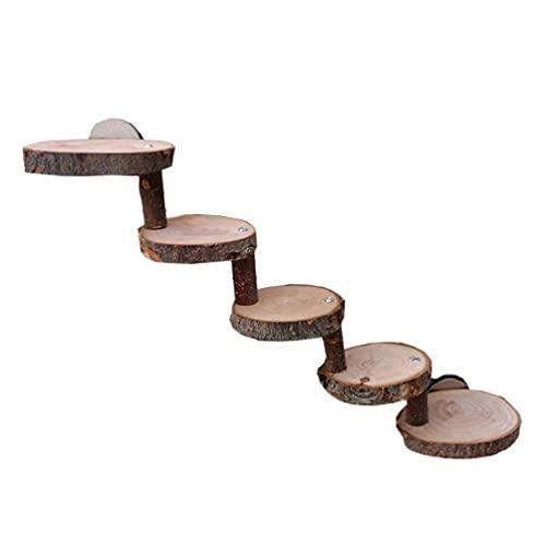 vfhdd Escalera de madera hámster pequeñas mascotas masticando juguetes para azúcar planeador ratón chinchilla conejillo de indias juguetes