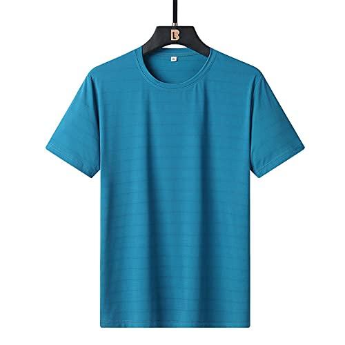 ZHOUJIE Pure Color Camiseta Verano de Hombre Verano Luz Luz Hielo Seda...