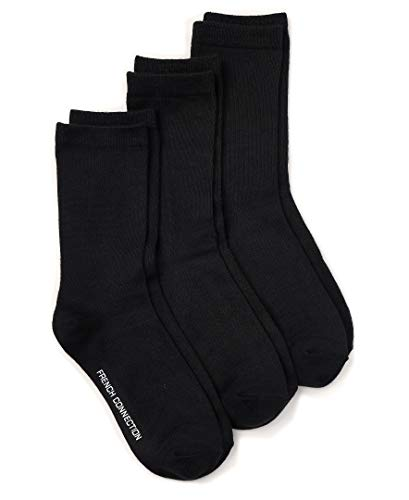 French Connection Casual Women's Socks (Black, Medium)