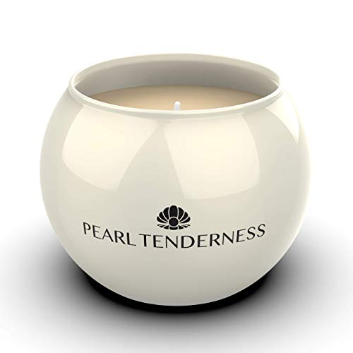 Scented Candles, White Pearl All Natural Soy Candles Strong Fragrance of English pear Candle Premium Pearl Finish Candles Glass Gift Boxed Home Decor Aromatherapy Candles