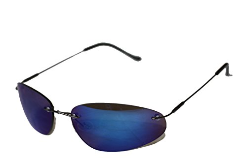 Matrix de style néo Lunettes de soleil lunettes Emeco miroir bleu 9001bleu