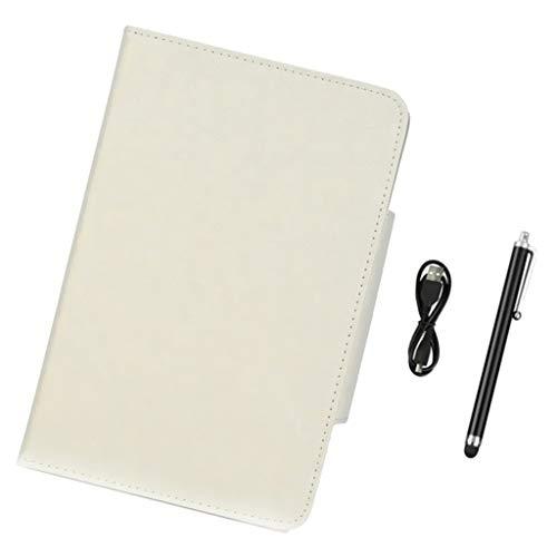 KESOTO Estuche con Teclado en Folio con Bluetooth Diseñado por Spcial, Teclado Inalámbrico con Teclas Cómodas de 9 a 10 Pulgadas - Blanco