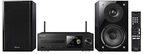 Pioneer X-HM82-K Micro-HiFi System (Glossy Black Lautspr, 2X 50 Watt, WiFi, Bluetooth, DLNA, Spotify Connect) schwarz