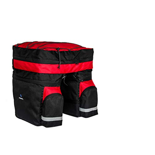 Read About Bicycle Carrier Bag Rear Rack Trunk Bike Luggage Back Seat Pannier Two Bags Cycling Saddl...
