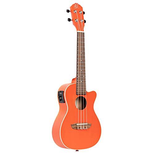 Ortega Earth Series, Ukelele de concierto, 4 cuerdas, Naranja, Acústica-Electrico, Derecha