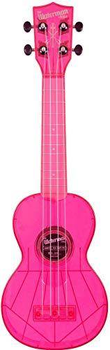 Kala Waterman - Ukelele soprano, color rosa fluorescente