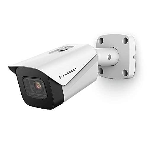 Amcrest UltraHD 4K (8MP) Outdoor Bullet POE IP Camera, 3840x2160, 98ft NightVision, 2.8mm Lens, IP67 Weatherproof, MicroSD Recording, White (IP8M-2496EW-V2)