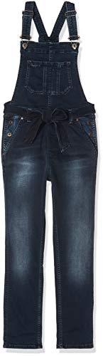 Pepe Jeans Mädchen Overall Chalk Bowie, (10oz Dark Used True Blue Od Bleu Denim 000), 7-8 Jahre (Herstellergröße: 7/8 Jahre)