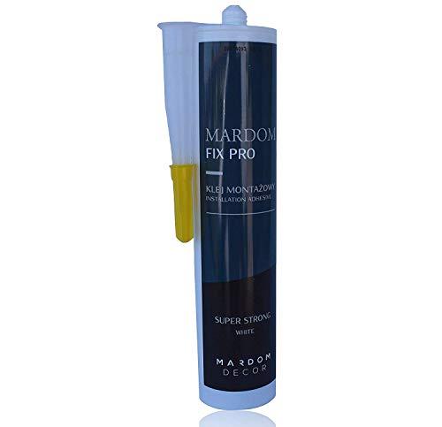 Mardom Fix Pro Montagekleber | Acryl Kleber Kartusche 300 ml | Acrylkleber für Zierprofile Paneele Dekor-Elemente