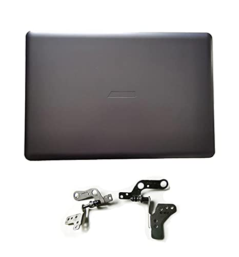 Replacement for ASUS X580V NX580V NX580VD N580V N580VD LCD Rear Lid Top Back Cover Case & Hinges (Gray A+H)