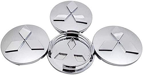 4 Stück Radnabenabdeckung für Mitsubishi ASX Ralliart Outlander Lancer Pajero Eclipse Galant 60mm,Auto Raddekoration Rostschutzzubehör,Radkappe Stickers in der Mitte Radnabenkappe