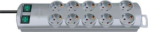 Brennenstuhl Steckdosenleiste PRIMERA-LINE 10-fach/1153390120 silber 10-fach