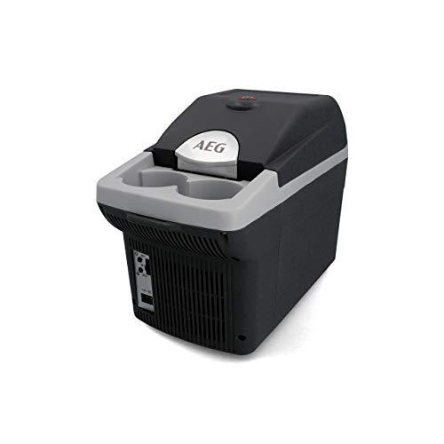 AEG Automotive Board-Bar BK 6 Thermoelektrische Kühl- und Warmhaltebox 6 Liter, 12 Volt für Auto und Steckdose, anschnallbar im PKW