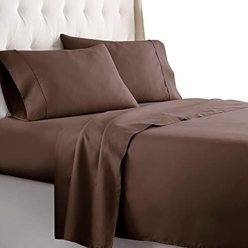 Hotel Luxury Bed Sheets Set-SALE TODAY ONLY! On Amazon-Top Quality Bedding 1800 Series Platinum Collection-100%!Deep Pocket, Wrinkle & Fade Resistant(King,Chocolate)
