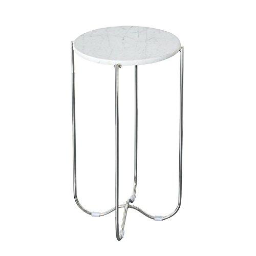 Exklusiver Beistelltisch Noble I weiß echter Marmor hochwertig verarbeitet Tisch Marmorplatte Wohnzimmertisch
