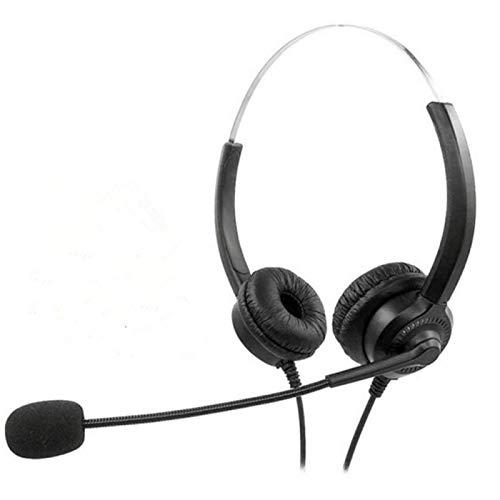 GeKLok Auriculares USB con micrófono, auriculares estéreo Cyber Acústica, cancelación de ruido, para PC, portátil, tableta, comodidad todo el día para reuniones, centro de llamadas, escuela