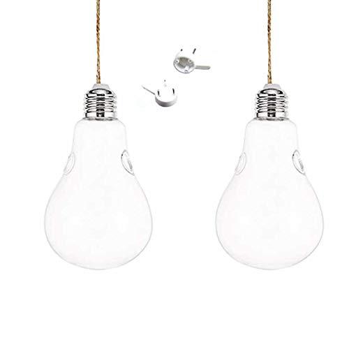1/2/3 stks Clear Gloeilamp Vaas, Lamp Glas Opknoping Opknoping Vaas Fles Terrarium Hydrocultuur Container Bloem DIY Thuis Bruiloft Decoratie