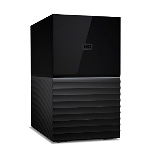 Western Digital WD My Book Du Desktop Hard Disk Esterno RAID USB 3.1 e Software di Backup Automatico, Nero, 12 TB