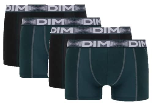 Dim Boxer 3D Flex AIR X4 Boxeur ajusté, Vert Pacific/Noir, Large Homme
