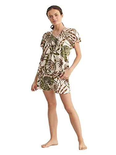PROMISE Pijama de mujer de verano de viscosa Fantasía S