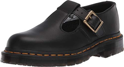 Dr. Martens, Women's Polley Slip Resistant Service Shoes, Black Industrial Full Grain, 10 M US