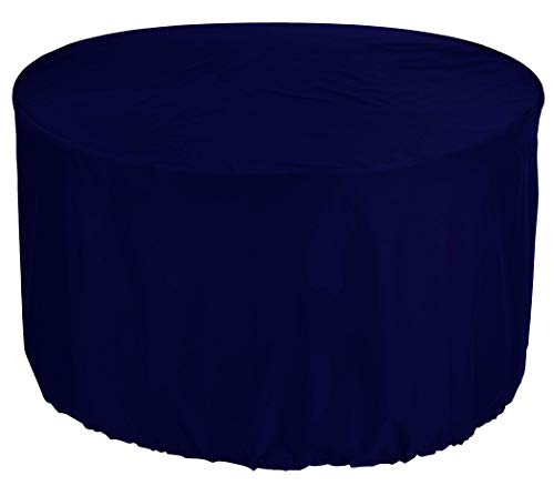 YULIAN kbPremium Tarpaulin Round Garden Table Cover Ø 185x80 cm Outdoor Daybed Cover Outdoor Furniture Cover Table and Chair Dust Cover Waterproof Round Patio Table Cover 600D Oxford Fabric Dark Blue