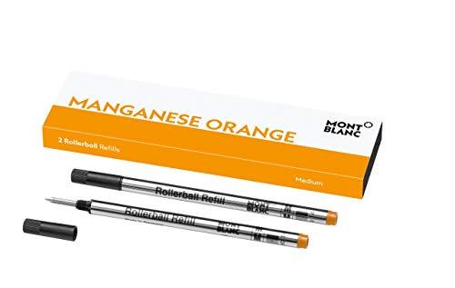 Montblanc Recambios de tinta - Minas de recambio para roller ball y fineliner, color Lucky Orange M