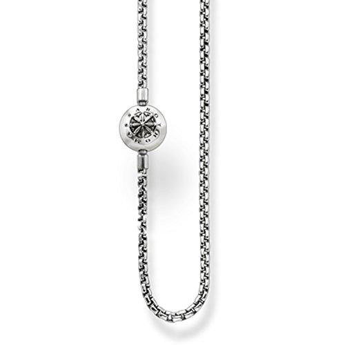 Thomas Sabo KK0002-001-12-L80 Ketting met hanger, uniseks, 925 sterling zilver, gezwart, lengte 80 cm