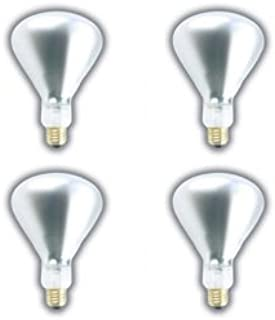 33ae5727631e (4 PACK) 250 WATT BR40 INFRARED HEAT LAMP SHATTERPROOF LIGHT BULB CLEAR  GLASS 5