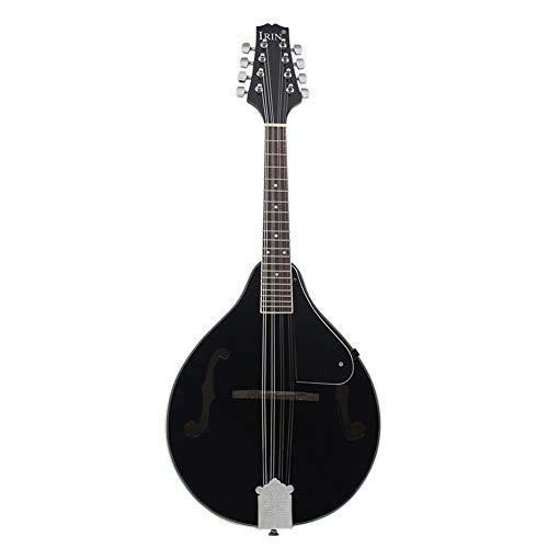 BLKykll zwarte etnische mandoline, acht snarige gitaar mandoline uitgerust met snaren en doek gemakkelijk te onderhouden en te dragen