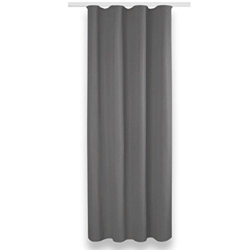 Bestlivings Verdunkelungsgardine mit Universalband in Grau (135x245 cm) - in vielen Farben erh.