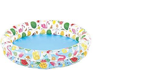 Planschbecken Badespaß Schwimmbad Pool Planschbecken Kinderpool Pool Schwimmingpool Babypool Babybecken Baby Pool und mit zwei Ringen Durchmesser ca. 122 x 25 cm Flamingo
