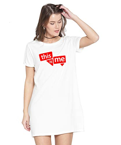 Caseria Women's Cotton Biowash Graphic Printed T-Shirt Dress – This is Me